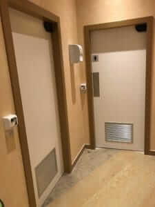 Geneva, Swizerland: 950 swing doors with XPB-SCAN at the Canada Mission - Intsalled by Teleporte Ziegler